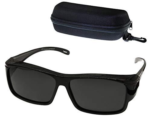 ETP Sunglasses - Polarized Smoke Lens with Case - Black Frame - Size Medium