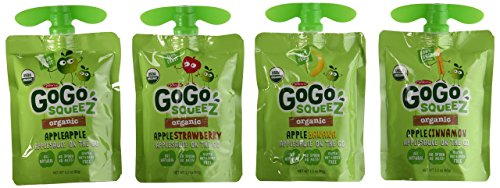 Materne GoGo Squeez Organic Applesauce, Variety Pack, 3.2 oz, 20 ct by Materne (Image #1)