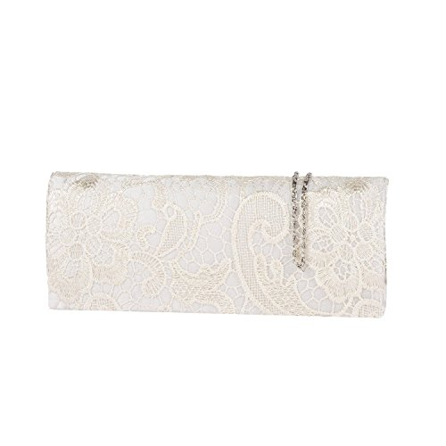 BAG Ivory MULTICOLOUR LACE EVENING WEDDING HotStyleZone PROM CLUTCH LADIES SATIN BAG FLORAL HANDBAG 4Awwq87x