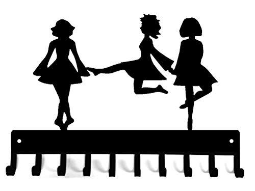 Irish Dance Trio of Dancers Medal Rack Display
