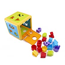Wishtime Brilliant Basics Baby's First Blocks Shape Sorting cube