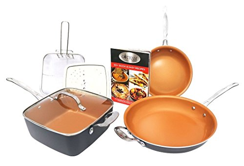 copper cookware series set 7 pc - 1