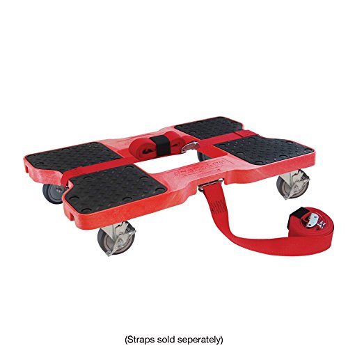 SNAP-LOC DOLLY RED (USA!) with 1,500 lb. capacity, steel frame, strap option, 4 inch casters by Snap-Loc (Image #3)
