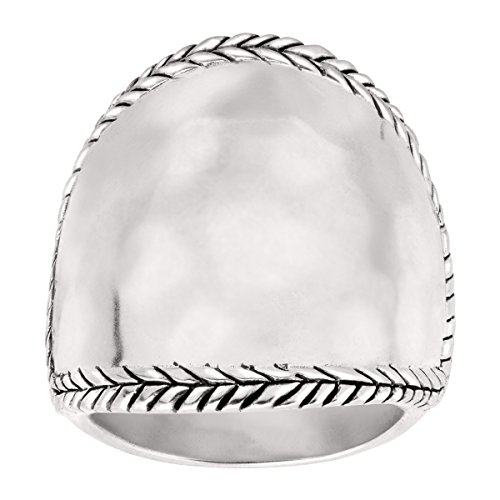 Silpada 'Braided Edge' Sterling Silver Ring (Style Silver Ring Hammered)
