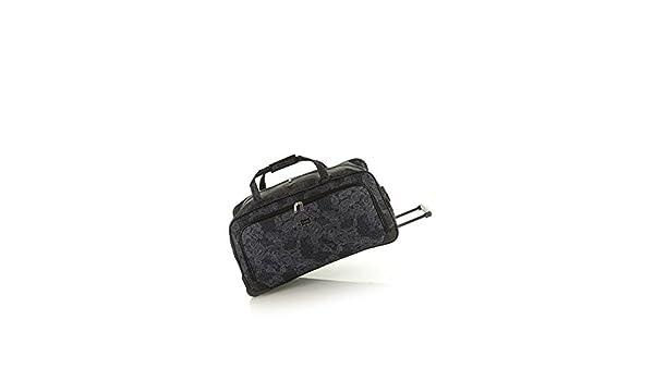 11064515acb6 Lucca So Paisley 70cm Wheeled Duffle Bag Black   Amazon.com.au  Fashion