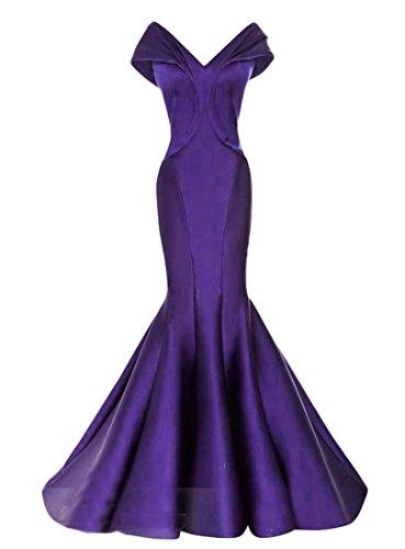 Chupeng Mancherons Col V Femmes Élégantes Robes De Soirée De Bal Sirène De Purpleb