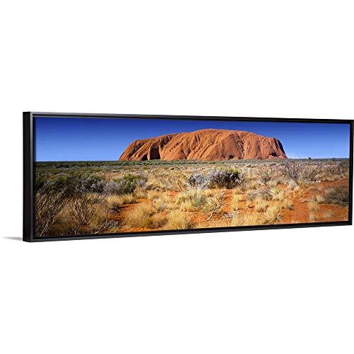 Floating Frame Premium Canvas with Black Frame Wall Art Print Entitled Ayers Rock, Uluru-Kata Tjuta National Park, Northern Territory, Australia 36