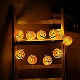 H+K+L Pumpkin String Lights Halloween Battery Operated Decoration Lights 20 LED Beads (Yellow)