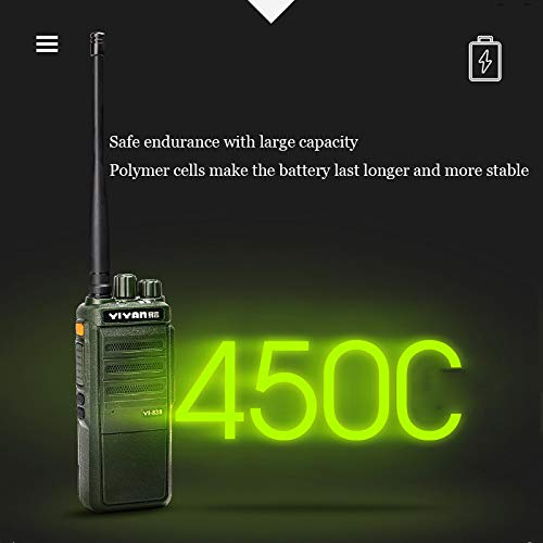 Digital Walkie-Talkie, Walkie-Talkie Rechargeable Long-Distance Walkie-Talkie Noise Reduction Chip Function Dual Channel Switching 15W High Power Battery Life by LDJC (Image #6)