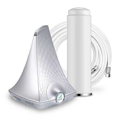 SureCall Flare Cell Phone Signal Booster Kit for All Carriers 3G/4G LTE up to 2,500 Sq - Signal Extender Verizon