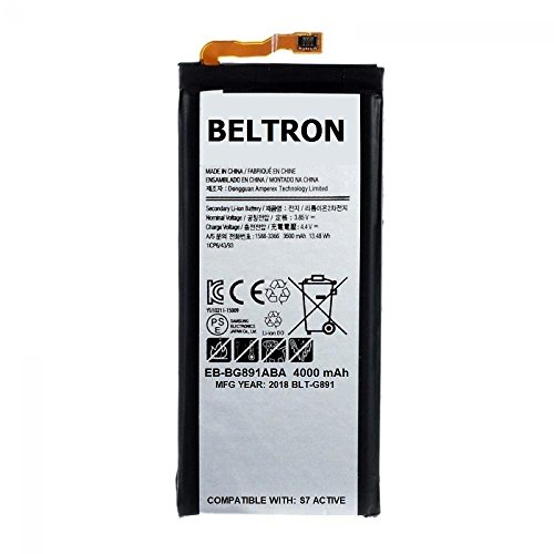 - New 4000 mAh BELTRON Replacement Battery for Samsung Galaxy S7 Active G891 - EB-BG891ABA (Certified Refurbished)
