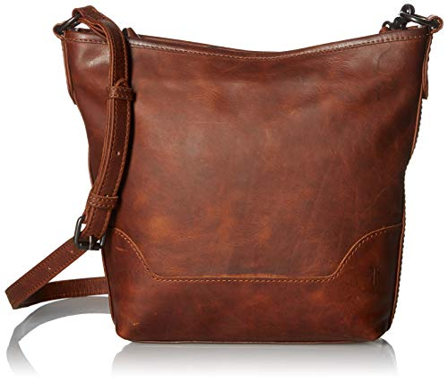 FRYE Melissa Zip Leather Small Hobo, cognac