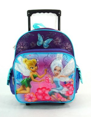 Disney Small Rolling Backpack Tinkerbell - Fairies Pixie Dust New Bag 616786