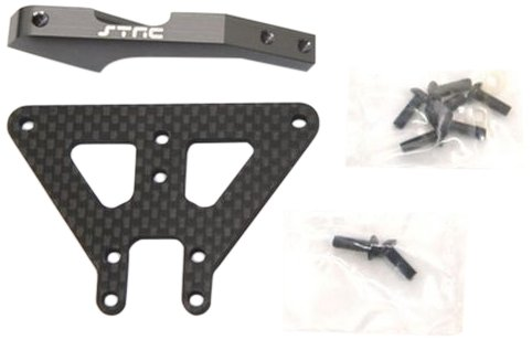 ST Racing Concepts STA80101FGM Aluminum and Graphite Front Chassis Brace for The Exo Buggy (Gun ()