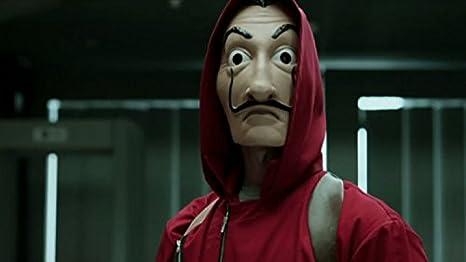 Amazon.com: Dali Mask Salvador LA CASA De Papel | Money Heist | Realistic Movie Prop Face Mask: Clothing
