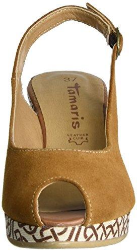 Tamaris 29303, Sandalias con Cuña para Mujer Beige (Cuoio 455)