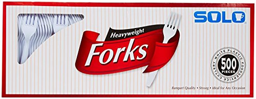 Solo White Heavyweight Forks - 500 ct
