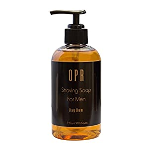 OPR Bay Rum Shaving Soap, Shave Cream & Oil Based Soap: Reduces Razor Bumps, Moisturizes Skin, Provides Superior Lubrication & A Smooth, Comfortable Shave; Smells Great; Lasts Up to 180 Shaves