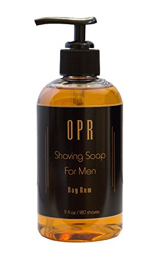 Price comparison product image OPR Bay Rum Shaving Soap, Shave Cream & Oil Based Soap: Reduces Razor Bumps, Moisturizes Skin, Provides Superior Lubrication & A Smooth, Comfortable Shave; Smells Great; Lasts Up to 180 Shaves