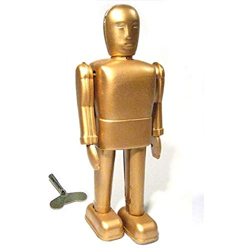 Tin Toy Arcade Gold Robot Wind Up
