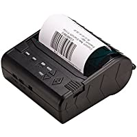 Portable Mini Wireless Bluetooth High Speed Direct Thermal Printer 80mm Pocket Mobile POS Compatible with Android & IOS & Windows & Linux systems and ESC / POS / STAR Print Commands Set
