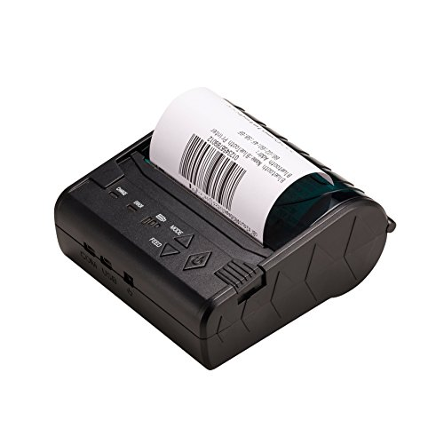 ZKTeco Mini Wireless Bluetooth Printer /Thermal Receipt Printer /Portable Personal Printer,80mm Pocket Mobile POS Compatible with Android & IOS & Windows & Linux systems and ESC / POS / STAR Print Com