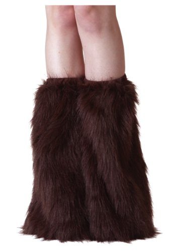 Fun Costumes Adult Brown Furry Polyester Boot Covers -