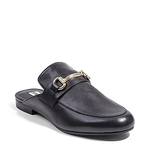 - Steve Madden Women's Kandi Slip-On Loafer, Black Leather, 8.5 M US