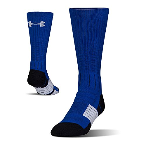 Under Armour Mens Under Armour Unrivaled Crew Single Pair, Royal/White, Large