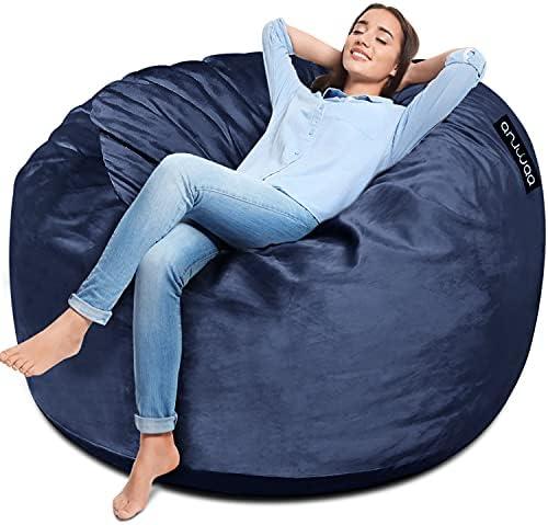 ANUWAA Bean Bag Chair, 4 Foot Memory Foam Bean...