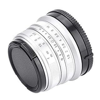 Senyar 25mm/f1.8 Focus Lens for Sony E-mount, 25mm aps-c Camera Lenses(Silvery)