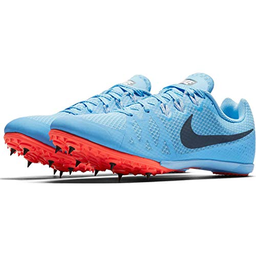 Nike Women's Zoom Rival MD 8 Track and Field Shoes (Blue/Red, 10.0 B(M) US)