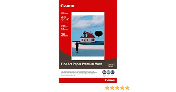 Amazon Com Canon Photo Paper Premium Matte 13 X 19 Inches 20