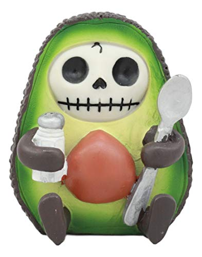 Ebros Gourmet Furrybones HASS Avocado Figurine Small 2.75 Inch Furry Bones Skeleton Decor Statue ()