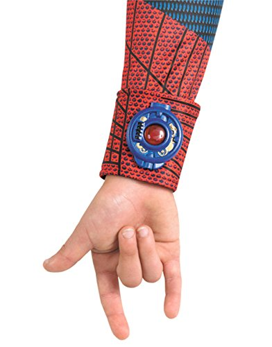 The Amazing Spider-man Movie Light Up Web Shooter Deluxe Costume, Red/Blue, One Size