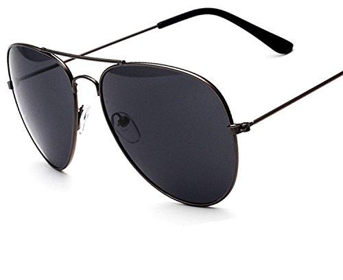 new sunglasses men and women trend glasses metal color film sunglasses,Gold frame gold ()
