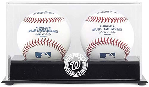 Washington Nationals Two Baseball Cube Logo Display Case