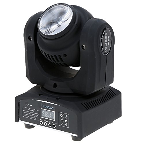 Lixada 2LED Total Power 35W RGBW 15 / 21 Channel DMX 512 Double Sides Beam Infinite Rotating Moving Head LED Stage Light Pattern Lamp for Indoor Disco KTV Club Party by Lixada