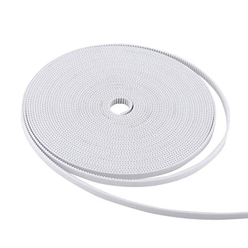 White Open Timing Belt,10M Width 6mm PU with Steel Core 3D Printer Accessory Made of Rubber for 3D Printers,Small Precision Machinery Transmission,etc