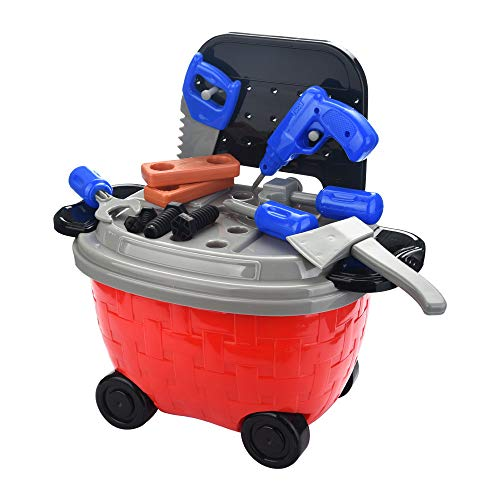 Gbell Boys Pretend Play Construction Tools Kit 24 Pcs - Kids