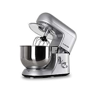 KLARSTEIN Bella Argentea • Stand Mixer • 1200 Watts • 6 HP • 5.5 qt. Capacity • Planetary Stirring Pattern • 6 Working Speeds • Stainless Steel Bowl • Quick-Release Chuck • Multifunctional • Silver
