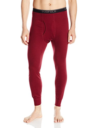 Duofold Men's Mid Weight Wicking Thermal Pant, Bordeaux Red, Medium (Bordeaux Clothing)