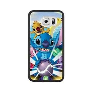 Disneys Lilo and Stitch C7Q3MG1L Caso funda Samsung Galaxy S6 Caso funda Negro