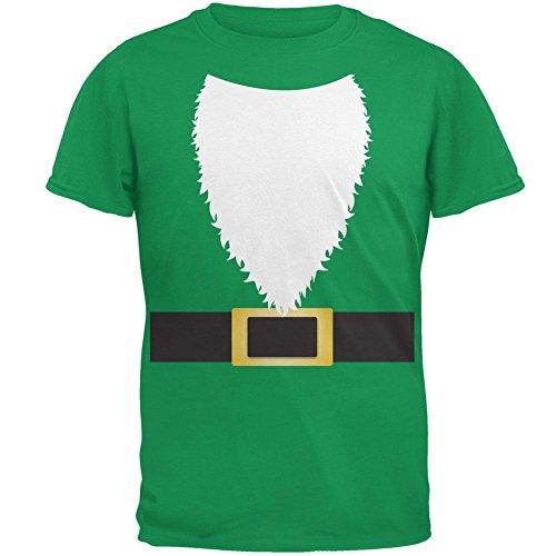Halloween Lawn Gnome Costume Green Mens T Shirt Irish Green 2XL (Lawn Gnome Halloween Costumes)