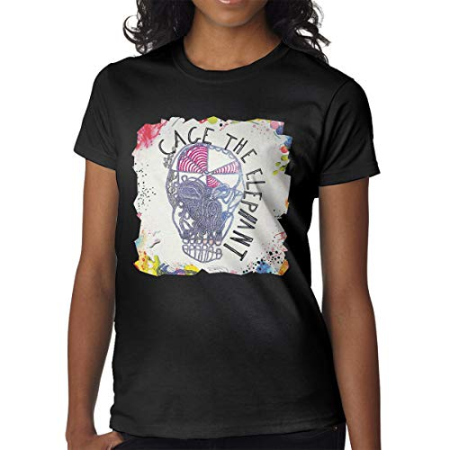 BowersJ Cage The Elephant Women's Tshirts Black -
