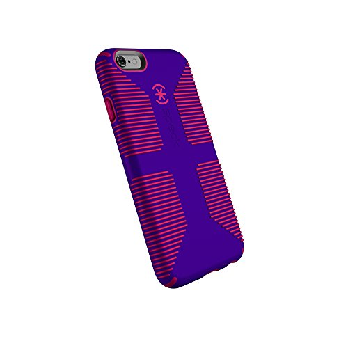 Ruby Red Phone - Speck Products CandyShell Grip Cell Phone Case for iPhone 6, iPhone 6S - Ultraviolet Purple/Ruby Red