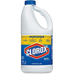 Clorox Company Regular Bleach, Reg, 64oz., 8/CT, Clear