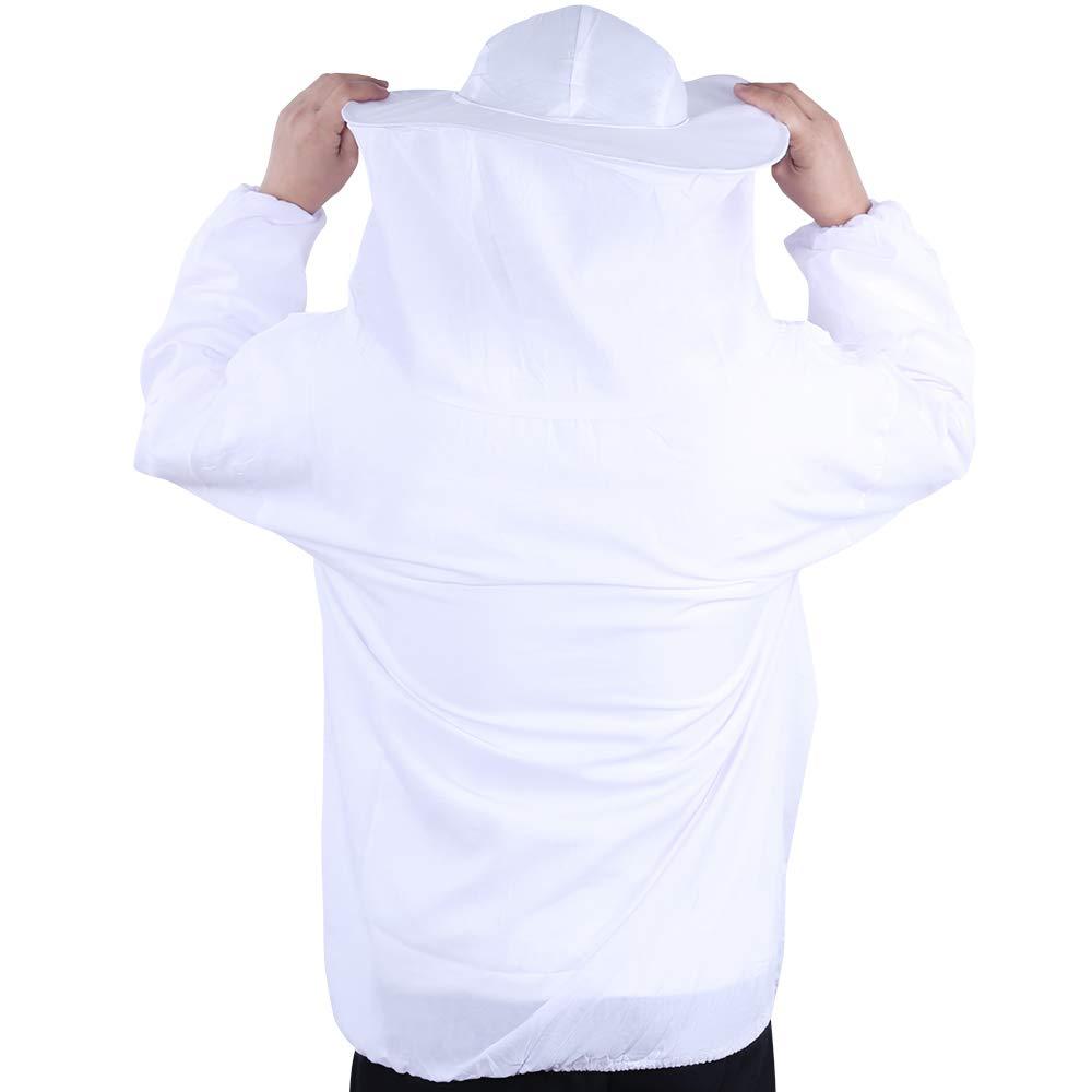 Robasiom Imkeranzug Imker Kleidung mit Schleier Hut bienensicher leicht wei/ß