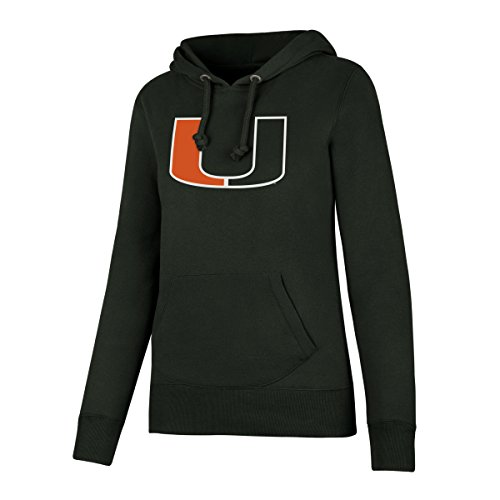 NCAA Miami Hurricanes Women's OTS Fleece Hoodie, Dark Green, Medium