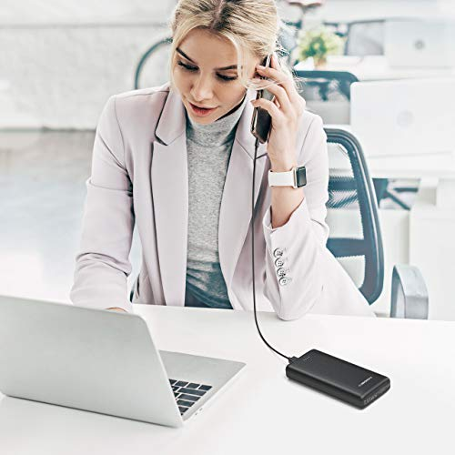 Aibocn 20000mAh Power Bank, Dual USB Ports Portable Charger for iPhone, iPad, Samsung, Google Pixel and More